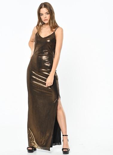 Askılı Uzun Abiye Elbise-Koton